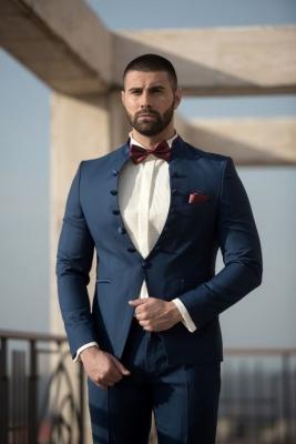 втален официален мъжки костюм  втален официален мъжки костюм  blended blue skinny fit suit.jpg