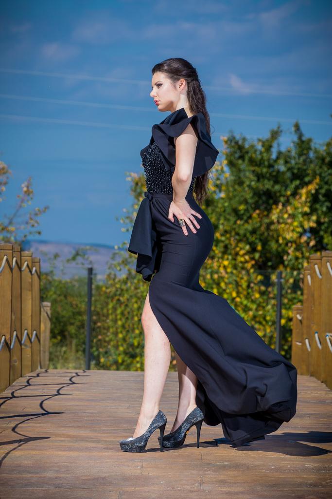 рокля Селест гръб