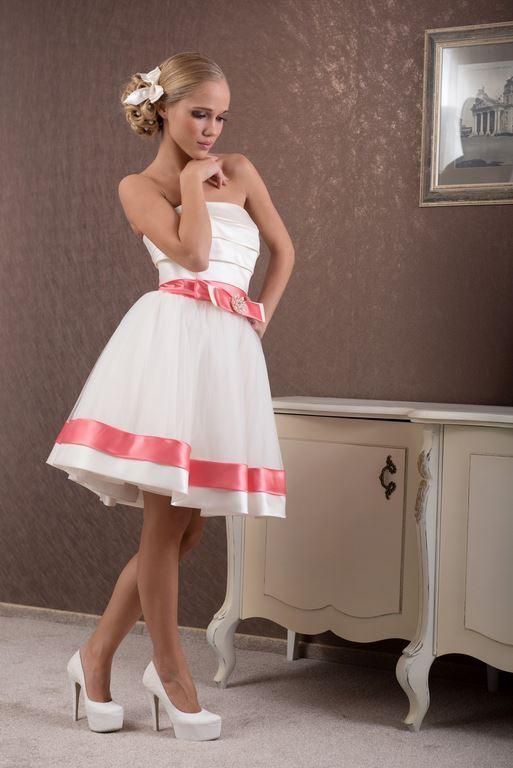 Къса бяла официална бална рокля Дафне DM_85.jpg