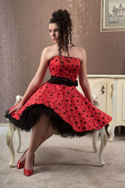 Къса червена официална бална рокля Алана DM_95.jpg